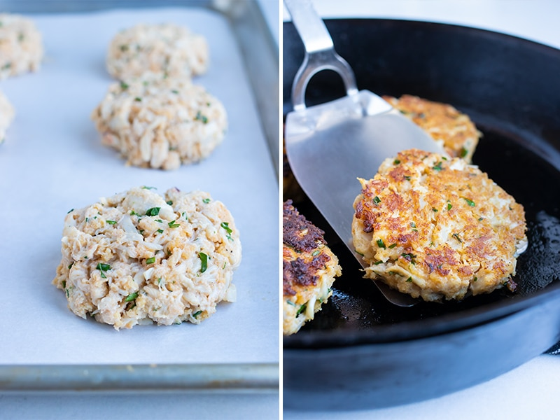 Step by step instructions for how to make homemade crab cakes.
