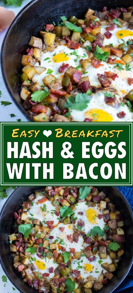 Gluten-free and dairy-free breakfast hash is served from a skillet.