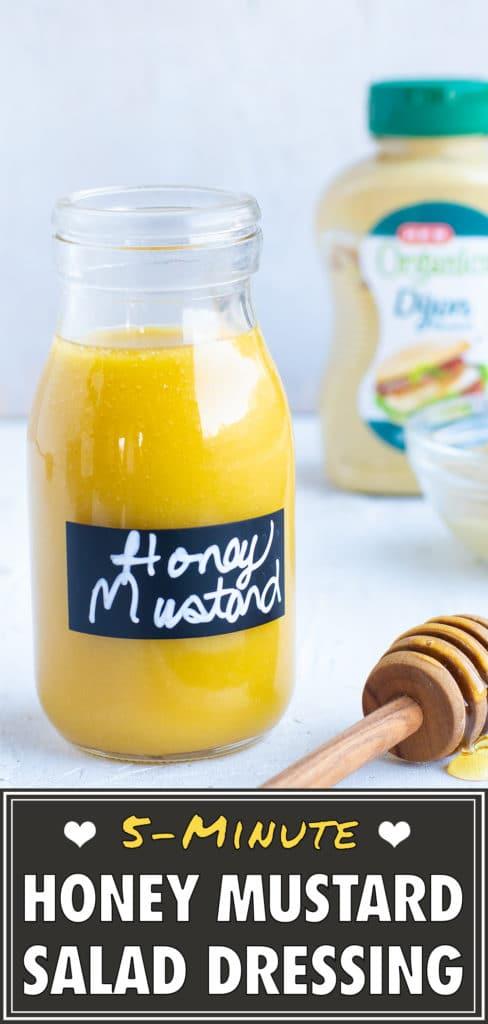 Healthy Homemade Honey Mustard Dressing Recipe