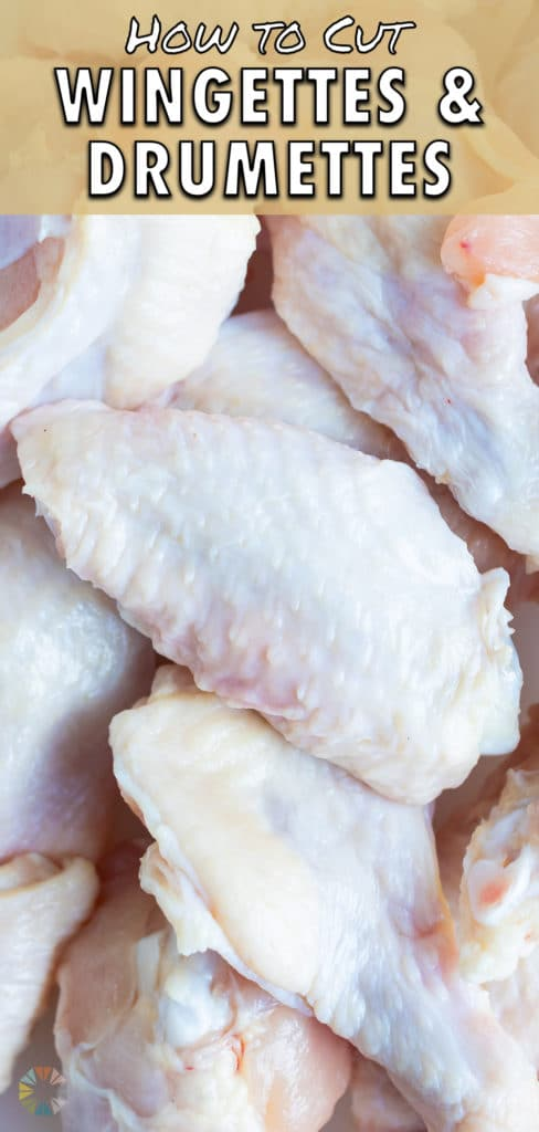Whole chicken wings are shown before being cut into pieces.