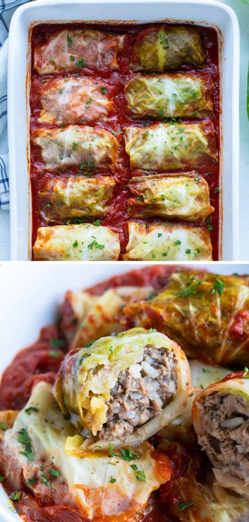 Cabbage rolls are made for a cozy dinner.
