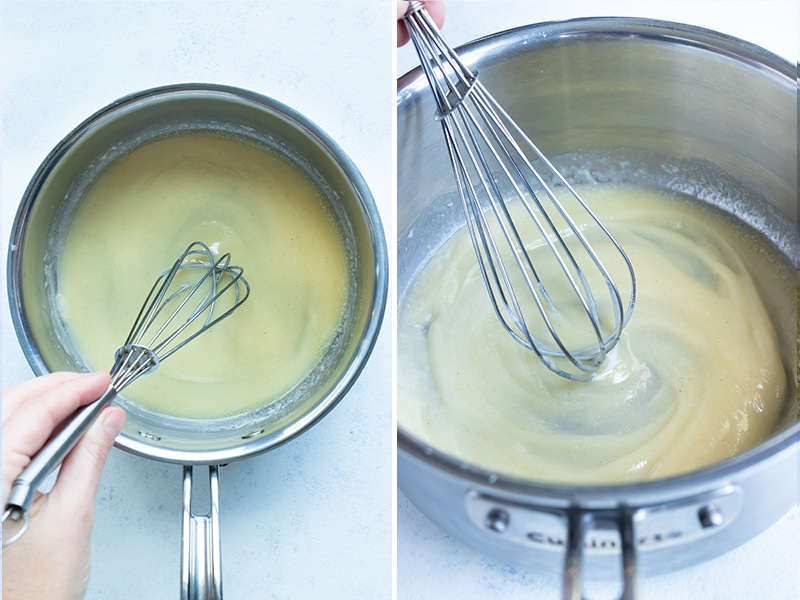 Instructional pictures show how to make a roux.