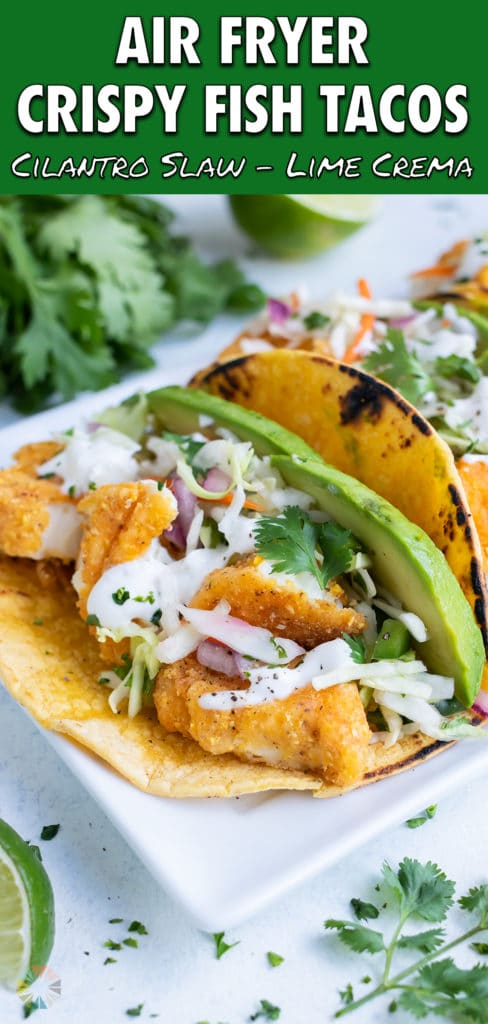 Tacos are made and put on ta plate.