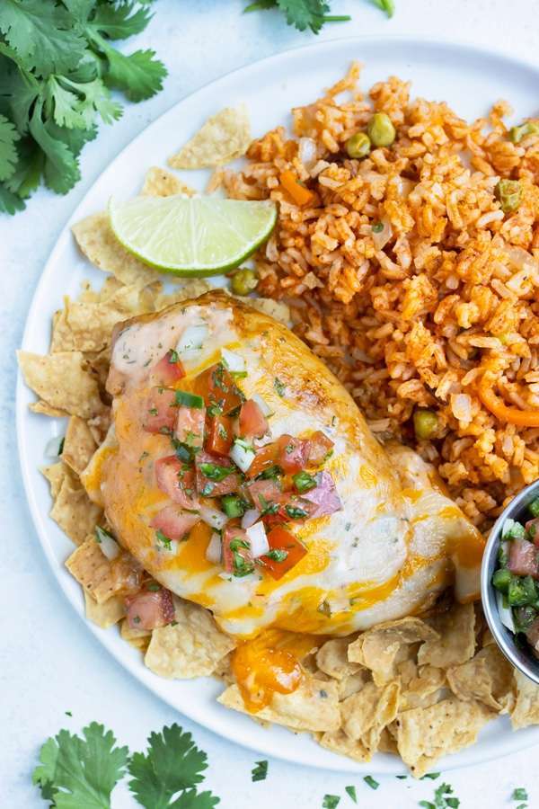 Applebees copycat Fiesta Lime chicken is served on a plate for dinner.
