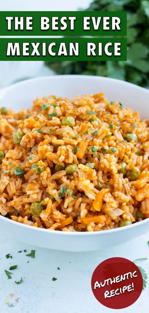 Mexican rice is plated for a fluffy and flavorful, easy side.
