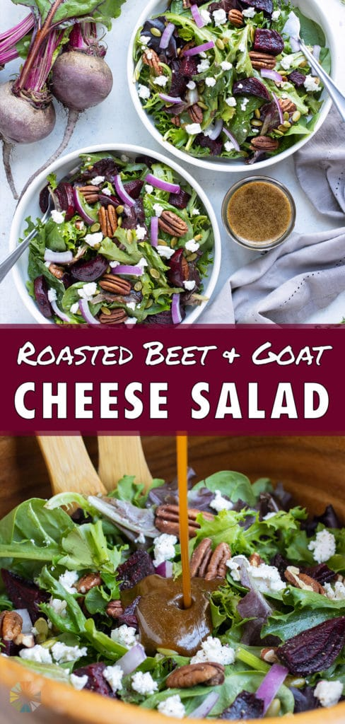 This fall salad is an easy dish served from a bowl.